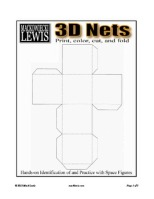 FREE 3D Nets print-color-cut-and-fold