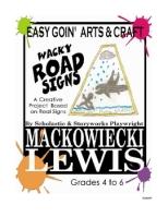 Easy Goin Art Wacky Road Signs classroom art project