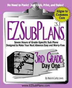 emergency sub plans 3rd grade