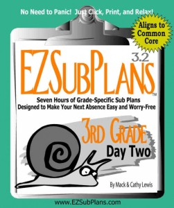 Click here to preview or purchase emergency lesson plans for 3rd grade