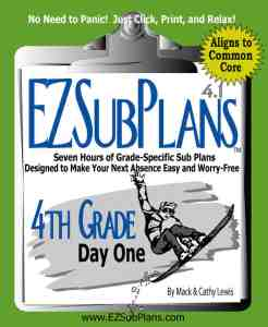 emergency sub plans 4th grade