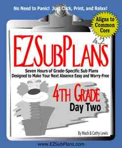 emergency lesson plans 4th grade