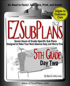 emergency lesson plans 5th grade