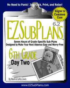 emergency lesson plans 6th grade