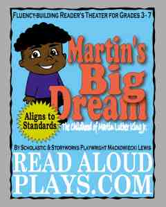 """The Childhood of Martin Luther King """"I Have a Dream"""" readers theater play script"""