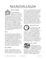 Quick Start Guide to Teaching tips for new teachers