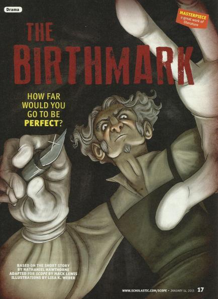 a summary of the birthmark by nathaniel hawthorne