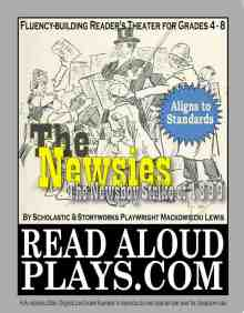 Click on the cover to preview The Newsies play script at TpT