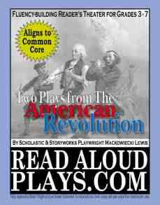 Revolutionary War readers theater play scripts for kids